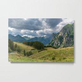 Summer day trekking in the Carnic Alps, Friuli Venezia-Giulia, Italy Metal Print