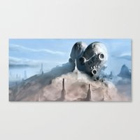 broken Canvas Prints featuring Broken by Giray Ötken
