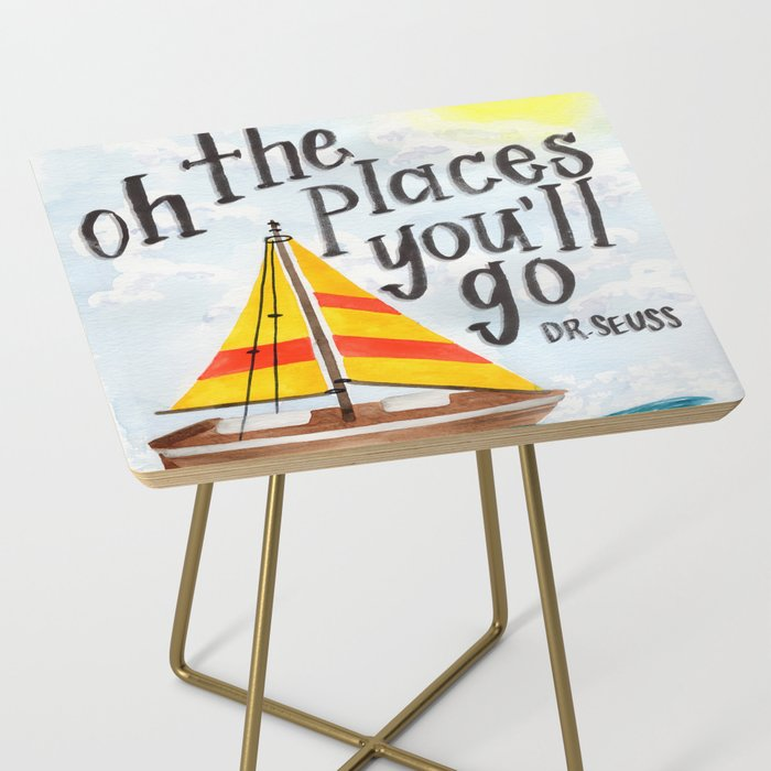 Oh the Places You'll Go - Dr. Seuss Side Table
