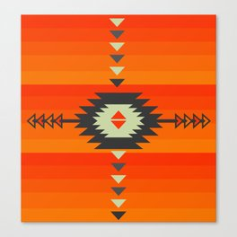 Southwestern in orange and red Canvas Print