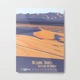 Vintage Poster - Mojave Trailers National Monument, California (2015) Metal Print