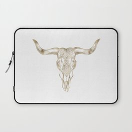 Bull Skull Gold Laptop Sleeve