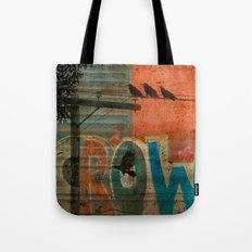 Crow train Tote Bag