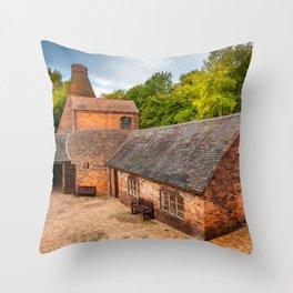 Bottle Kiln Coalport Throw Pillow