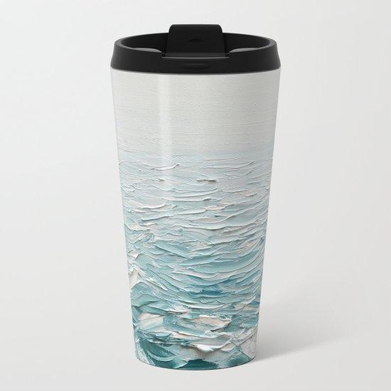 Foggy Seas Metal Travel Mug