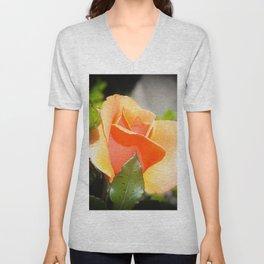 Creamsicle Rose Unisex V-Neck