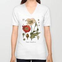 poppy V-neck T-shirts featuring Poppy by jbjart