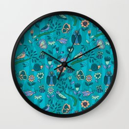 owls and insects Wall Clock