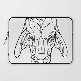 Brahma Bull Head Mosaic Black and White Laptop Sleeve