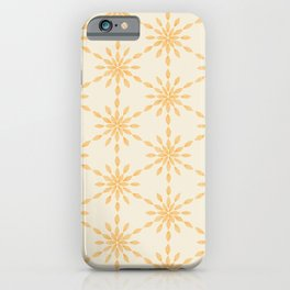 Golden Minimalist Hand Painted Watercolor Snowflakes, Winter Holiday Pattern, Gold, Yellow, Warm, Cozy, Bright, Orange Color iPhone Case