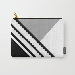 WHITE GREY BLACK Carry-All Pouch