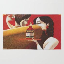 Aperol Vintage Beverage Advertisement Poster Rug