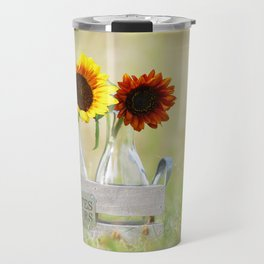 Country life sunflower idyll Travel Mug