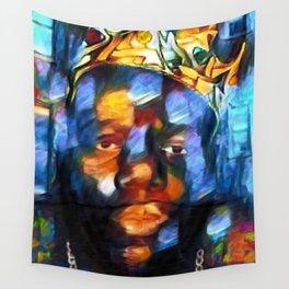 "African American 'King of New York,' Bedford–Stuyvesant ""Biggie"" Mural Portrait Wall Tapestry"
