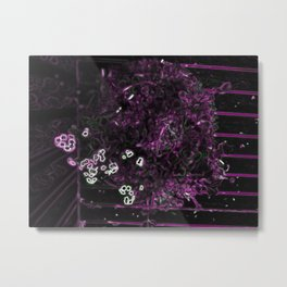 Neon Singularity Metal Print