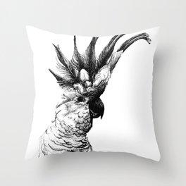 Cocky cockatoo Throw Pillow
