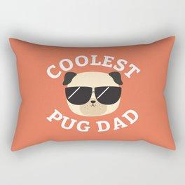 Coolest Pug Dad Rectangular Pillow