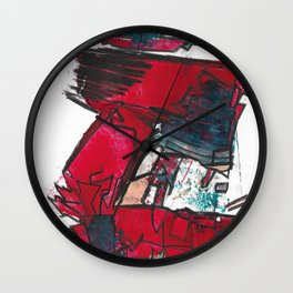 Eve Fine Art Modern Abstract Drawing and Painting Wall Clock