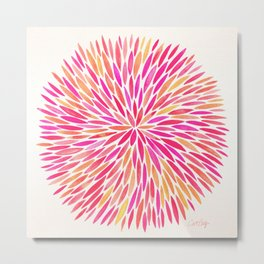 Watercolor Burst – Pink Ombré Metal Print