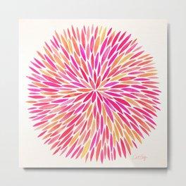 Watercolor Burst – Pink Ombré Metal Print