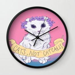 Cats, Not Catcalls Wall Clock
