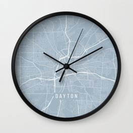 Dayton Map, USA - Slate Wall Clock