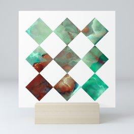 MARBLED ONYX & GEOMETRIC I Mini Art Print