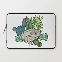 Toad with Succulents Laptop Sleeve