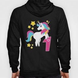 1st Birthday Girl Unicorn I Am 1 Gift Hoody