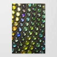 nail polish Canvas Prints featuring Marbles and Nail Polish by cirqueduchloe