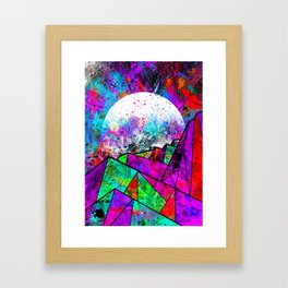 As a new planet is born Framed Art Print