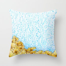 Cantharellus noumeae coral Throw Pillow
