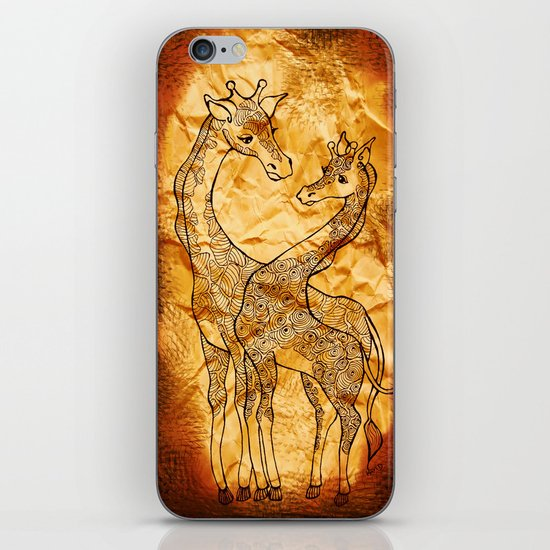Henna Giraffe iPhone & iPod Skin