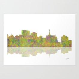 Oakland, California Skyline Art Print