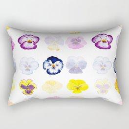 colorful pansies watercolor painting Rectangular Pillow