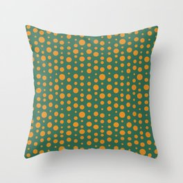 Organic Dots - paint, android, window, house, wall, iphone, slowlife, retro, hygge, farmhouse, picas Throw Pillow