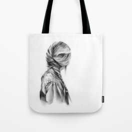 Hair Study #17 (Mono) Tote Bag