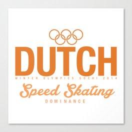 Dutch - Speed Skating Canvas Print