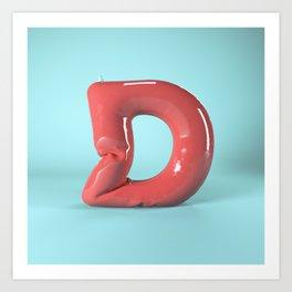 Inflatable 3D Type Art Print