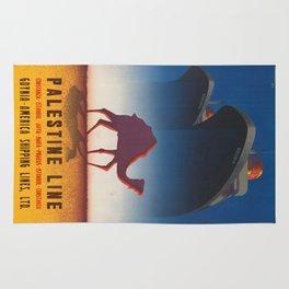 Vintage poster - Palestine Line Rug