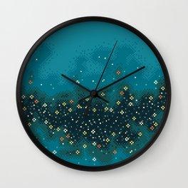 Blue Rift Galaxy (8bit) Wall Clock