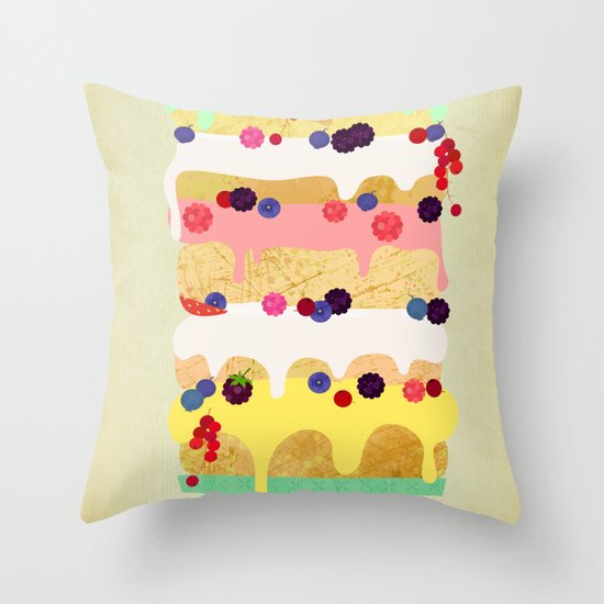 Fairy Cake Throw Pillow