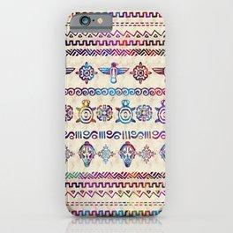 Maya / Aztec Gentle Watercolor pattern iPhone Case