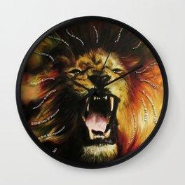 roar lion with type Wall Clock