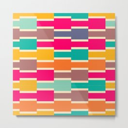 Connected colorful rectangles Metal Print