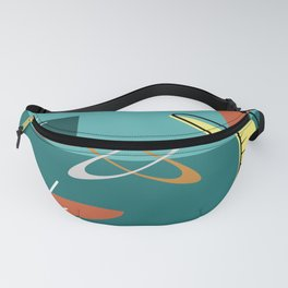 Turquoise Atomic Era Space Age Fanny Pack
