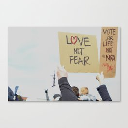 Love Not Fear Canvas Print
