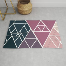 gradient triangles Rug
