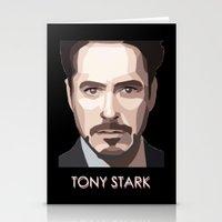 tony stark Stationery Cards featuring Tony Stark by Lany Nguyen