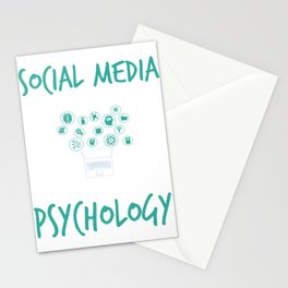Social Media Can Wait For Psychology Stationery Cards